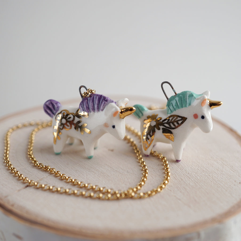 Floral Unicorn Necklace