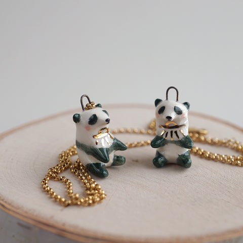 Green Panda Necklace