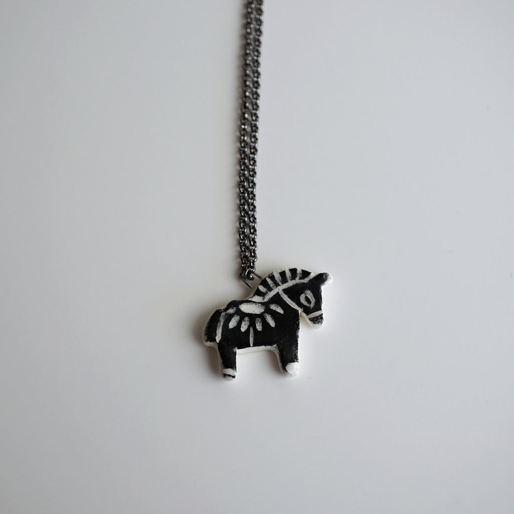 Black Pony Necklace