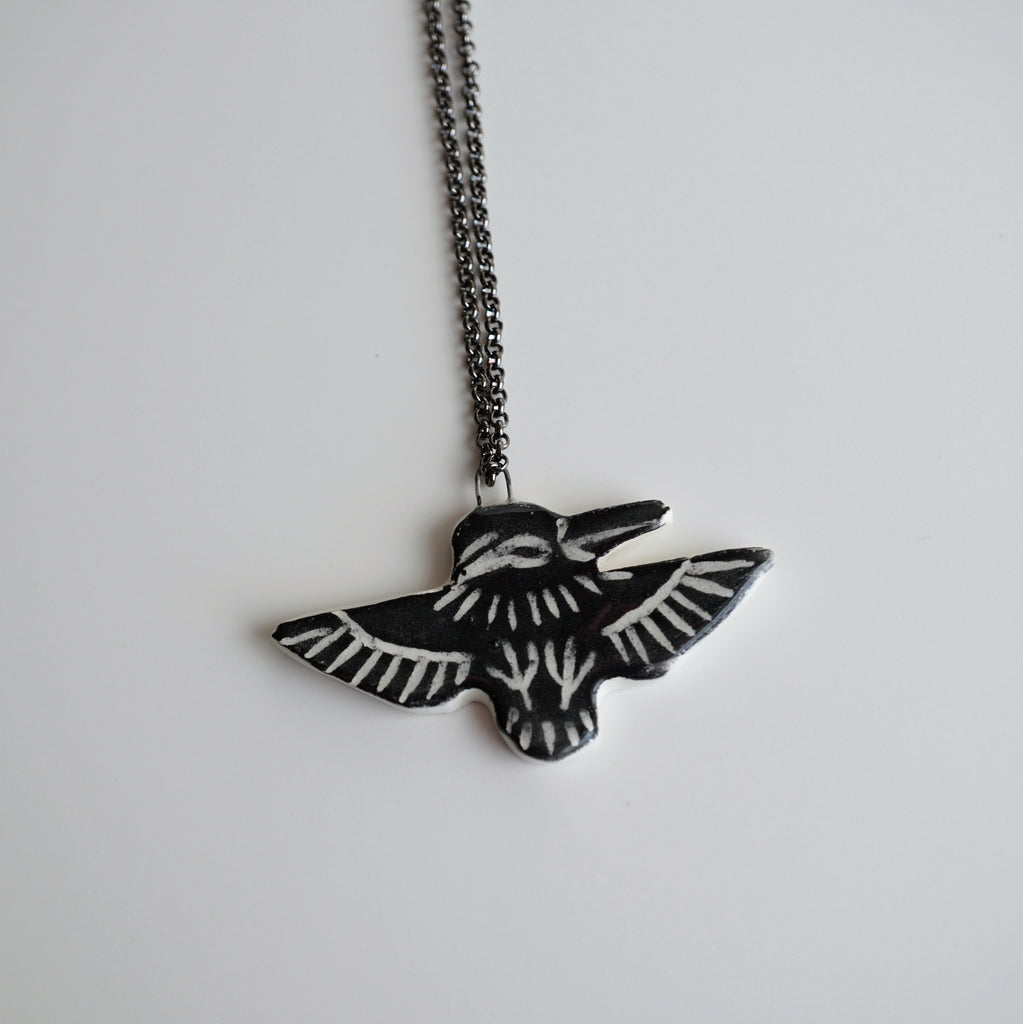 Black Kingfisher Necklace