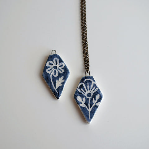 Blue Flora Necklace