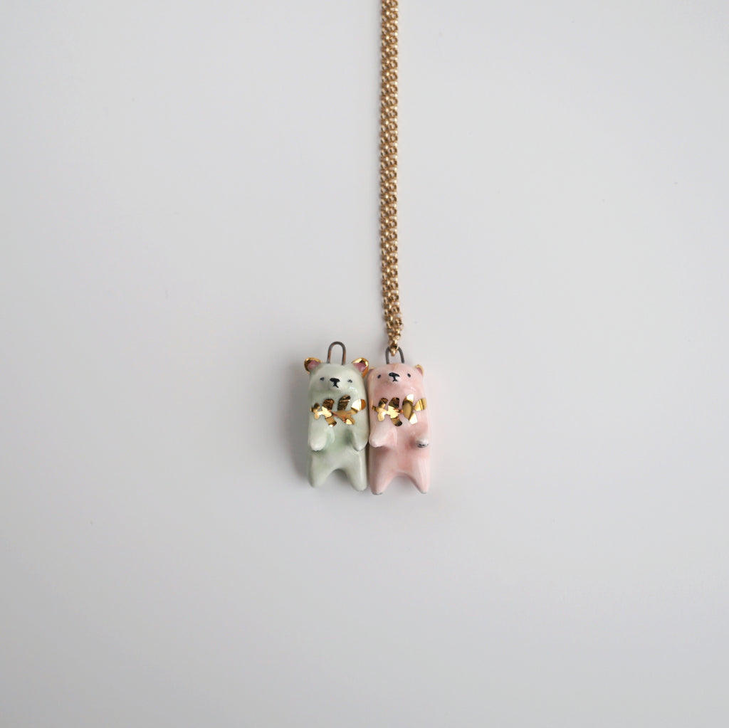 Fern Bear Necklace
