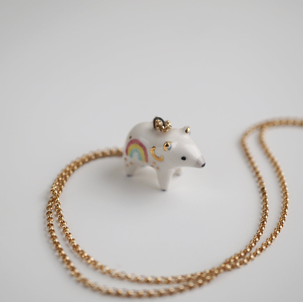 Rainbow Bear Necklace