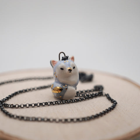 Blue Fox Necklace