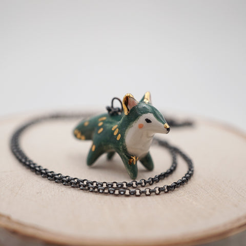 Emerald Fox Necklace