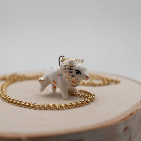 Circus Cookie Lion Necklace