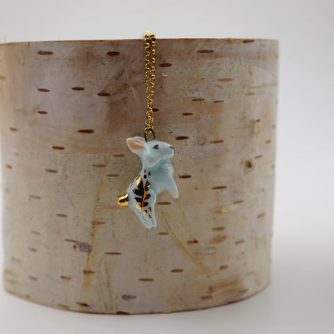 Goldentail Bunny Necklace