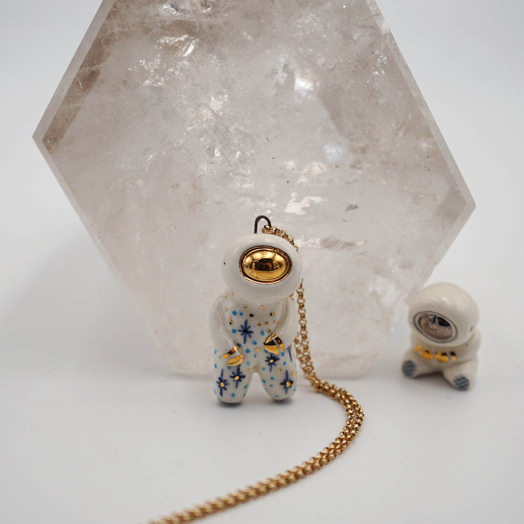 Starry Astronaut Necklace