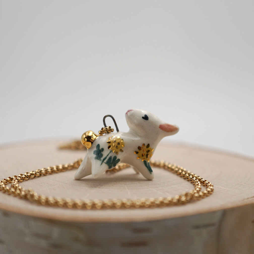 Dandelion Bunny Necklace