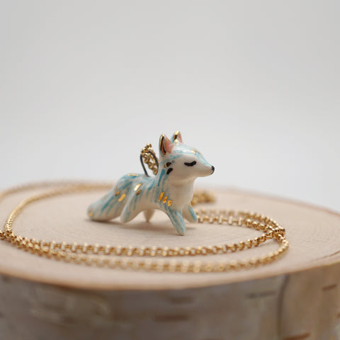 Aqua Fox Necklace