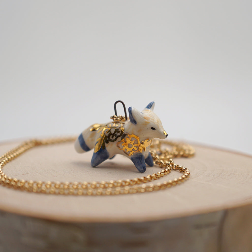Floral Fox Necklace