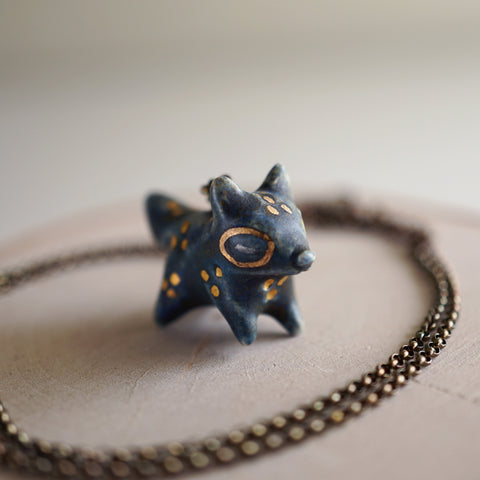 Midnight Fox Necklace