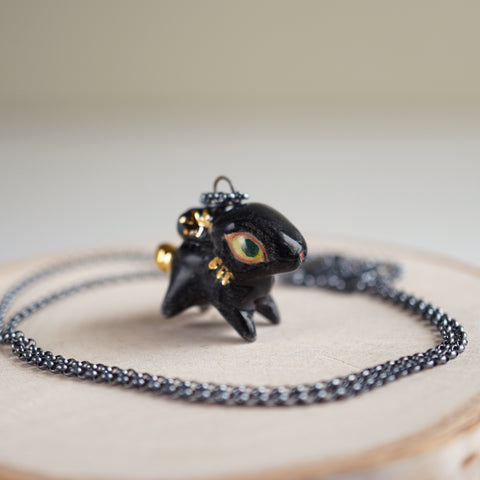 Black Rabbit Necklace