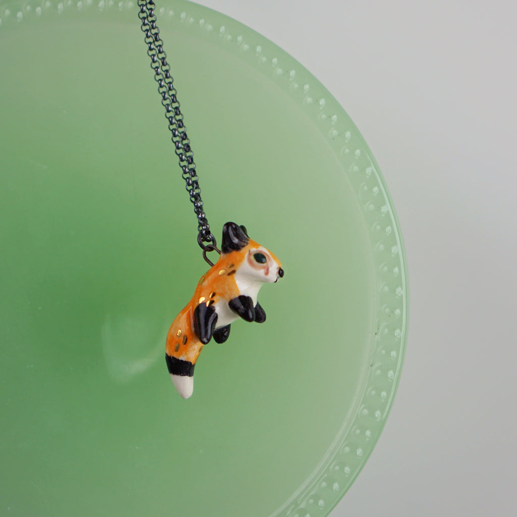Pouncing Fox Necklace