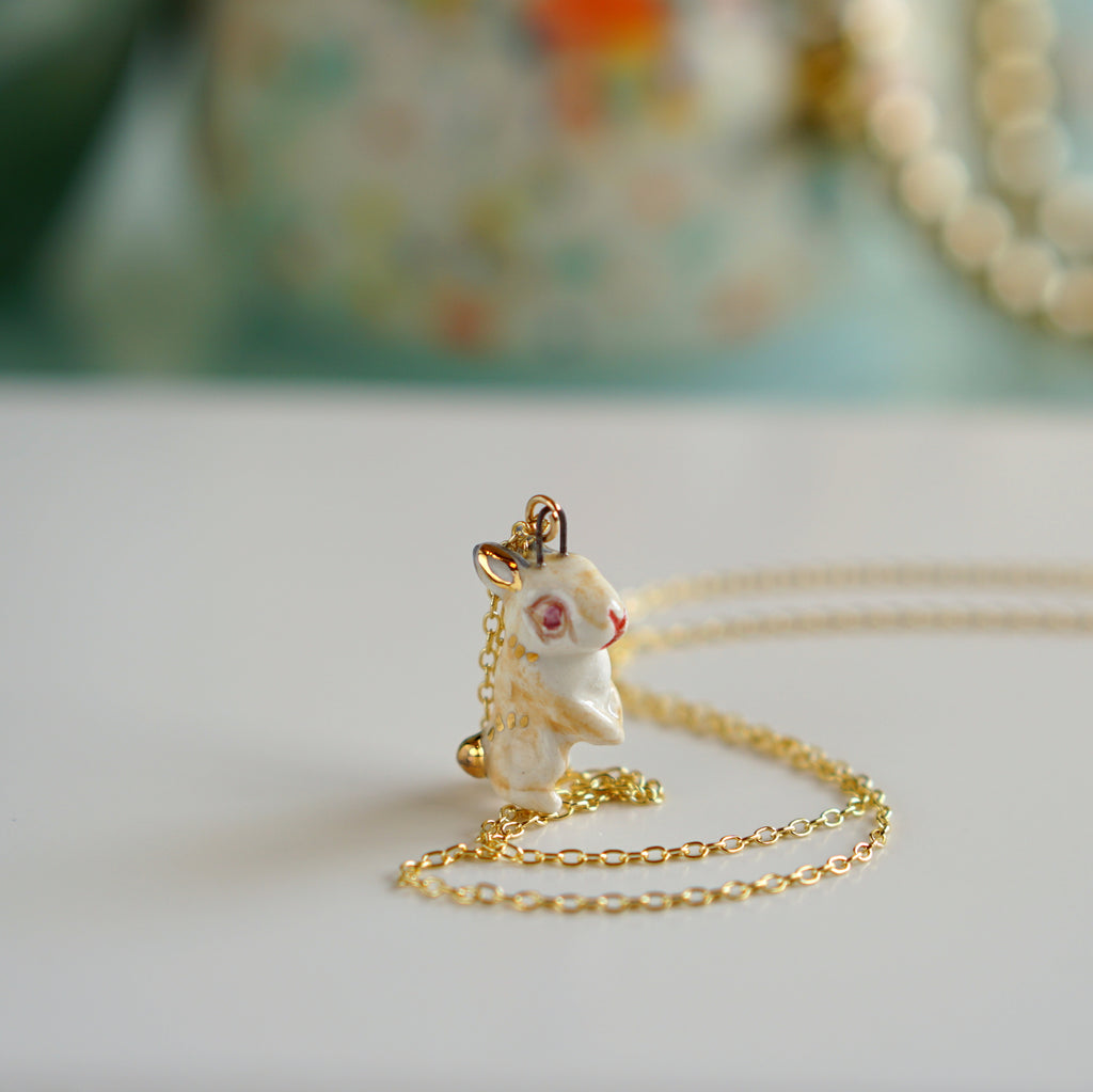 Standing rabbit Necklace