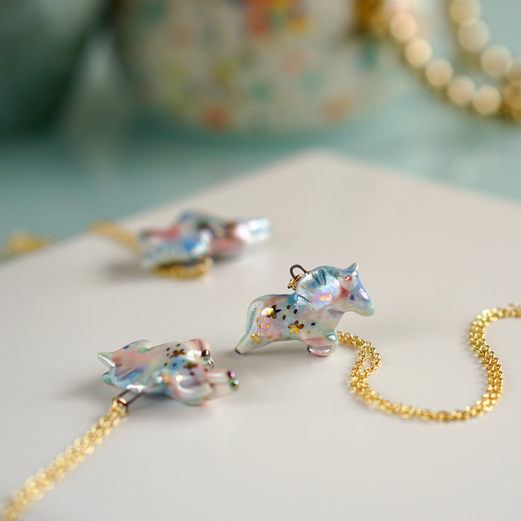 Pastel Aura Pony Necklace