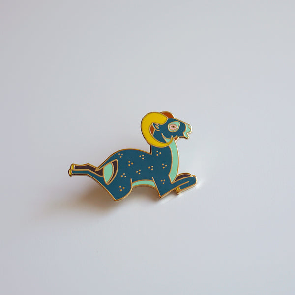 Bighorn Sheep Enamel Pin
