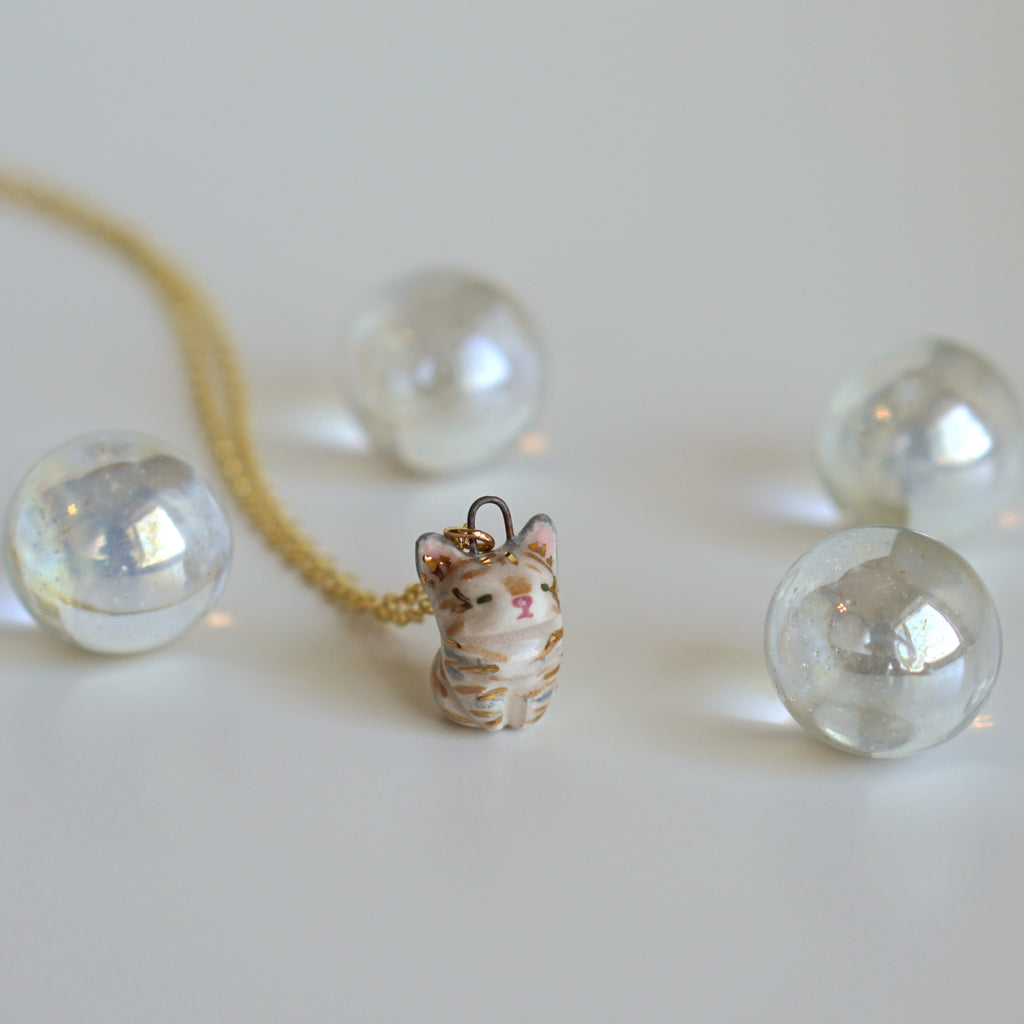 Little Tabby Cat Necklace