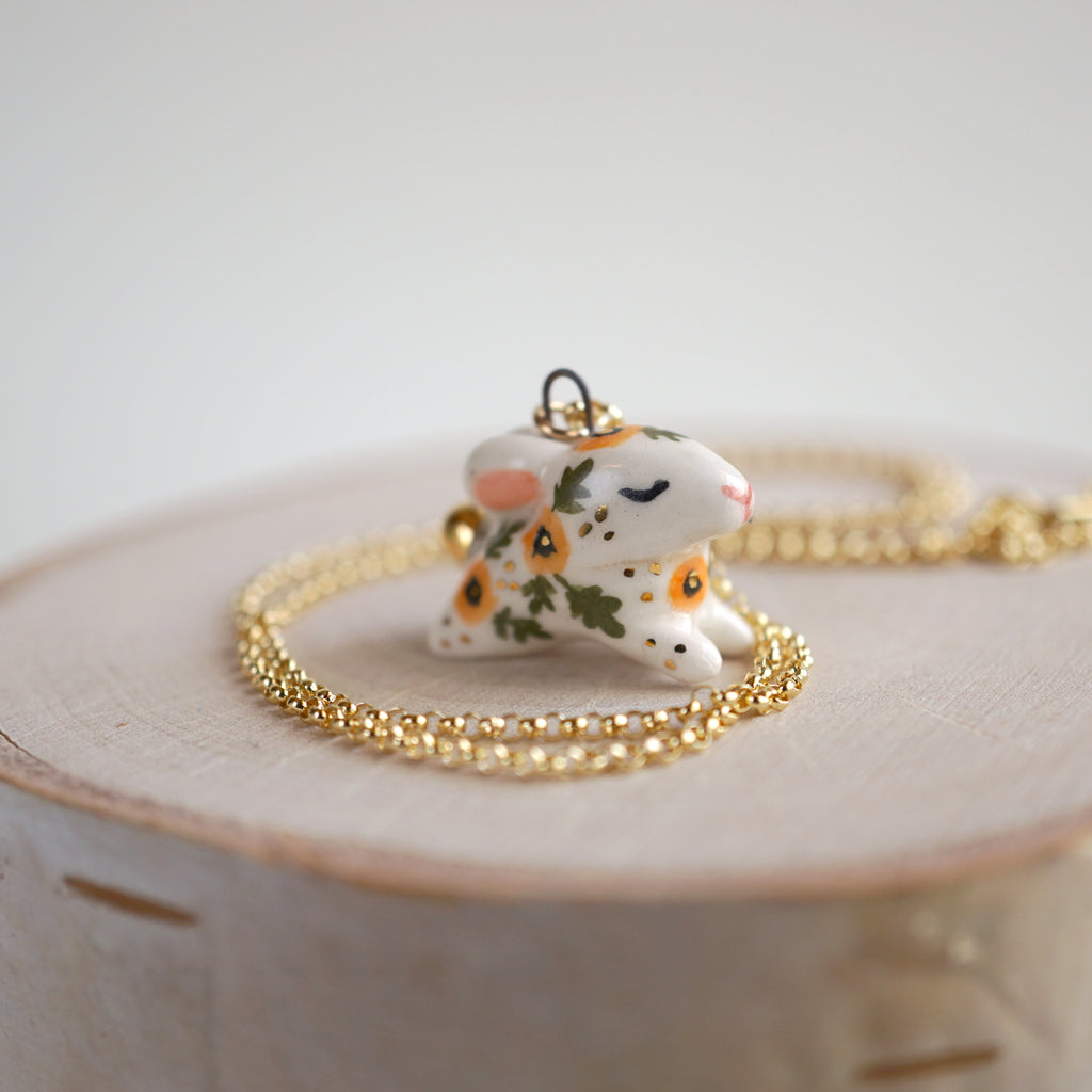 Poppy Bunny Necklace