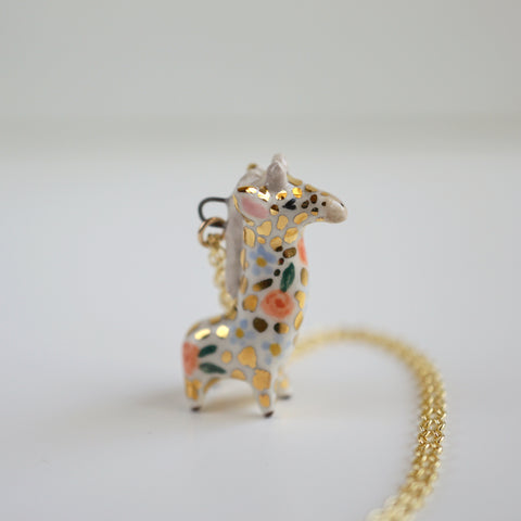Floral Giraffe Necklace