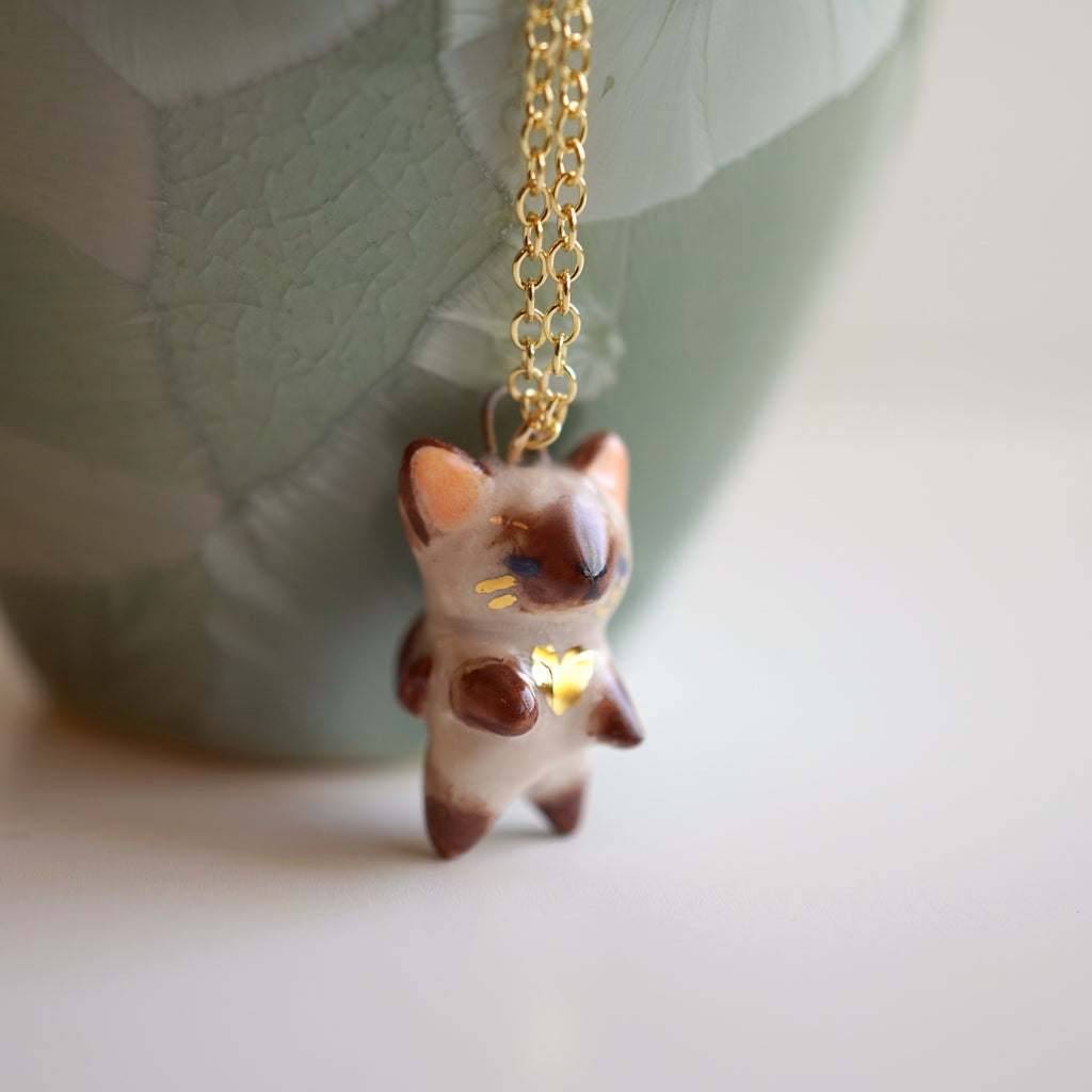 Siamese Kitten Necklace
