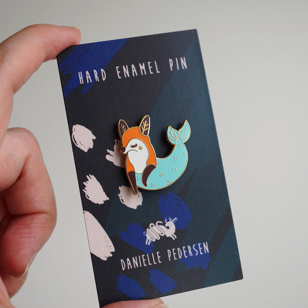 Fox Mermaid Enamel Pin