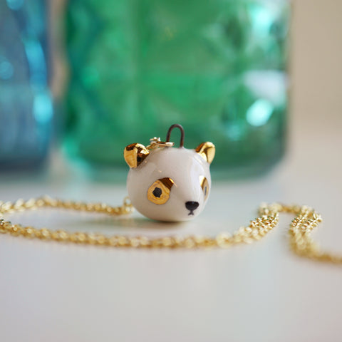 Panda Head Necklace