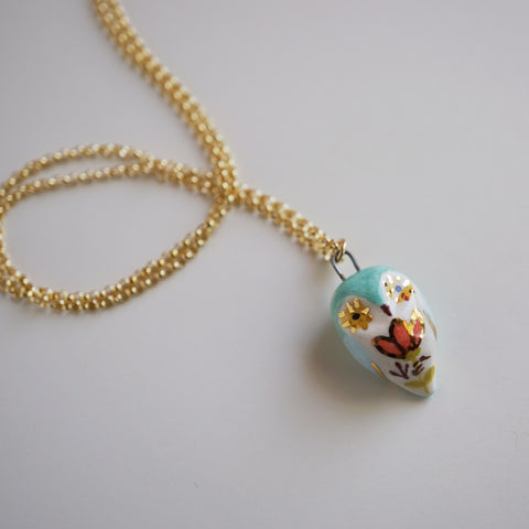 Floral Owl Necklace