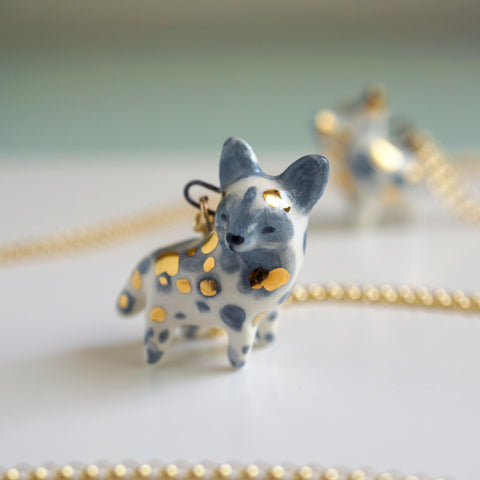 Painted Dog Necklace