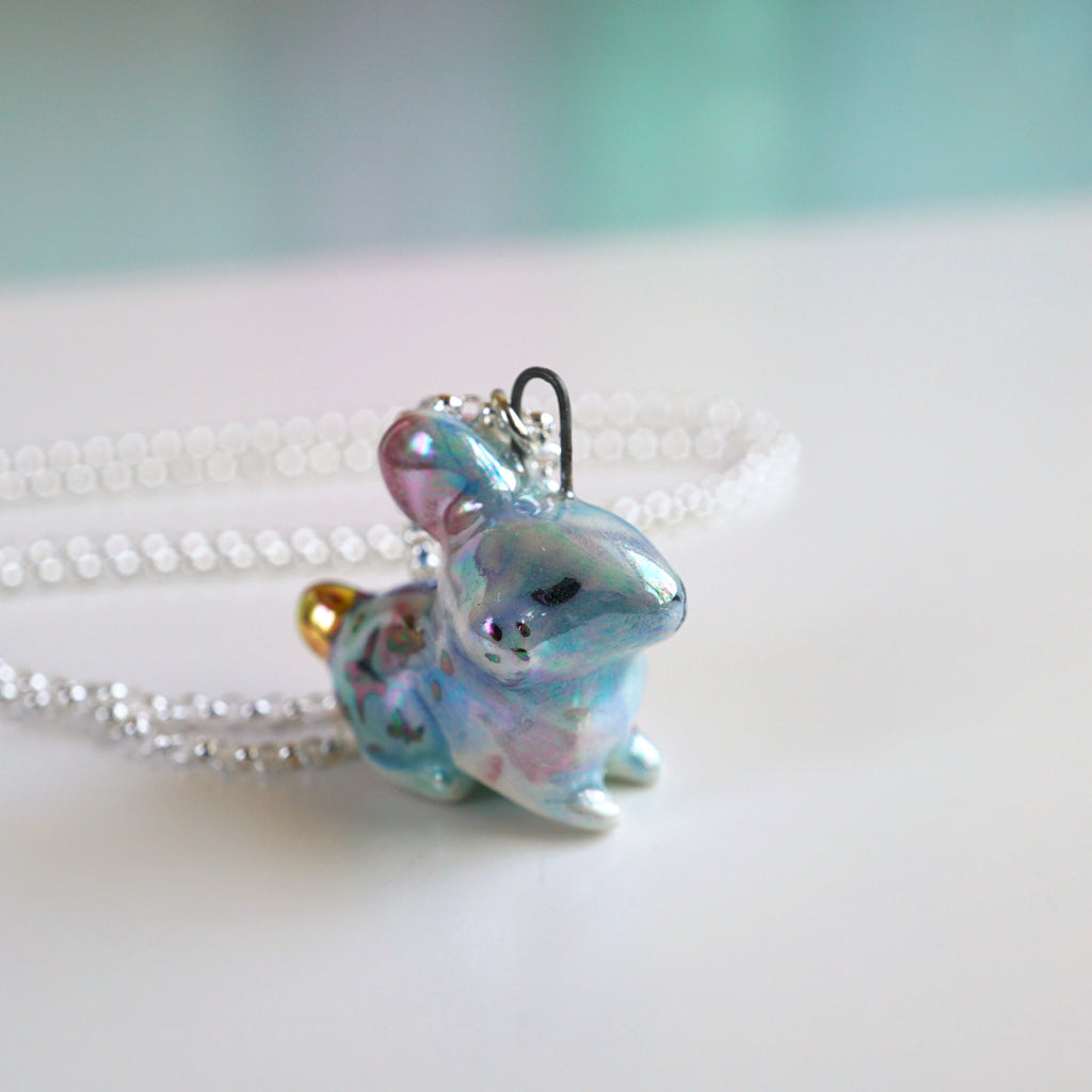 Aura Galaxy Bunny Necklace