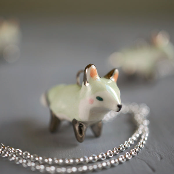 Mint Fox Necklace