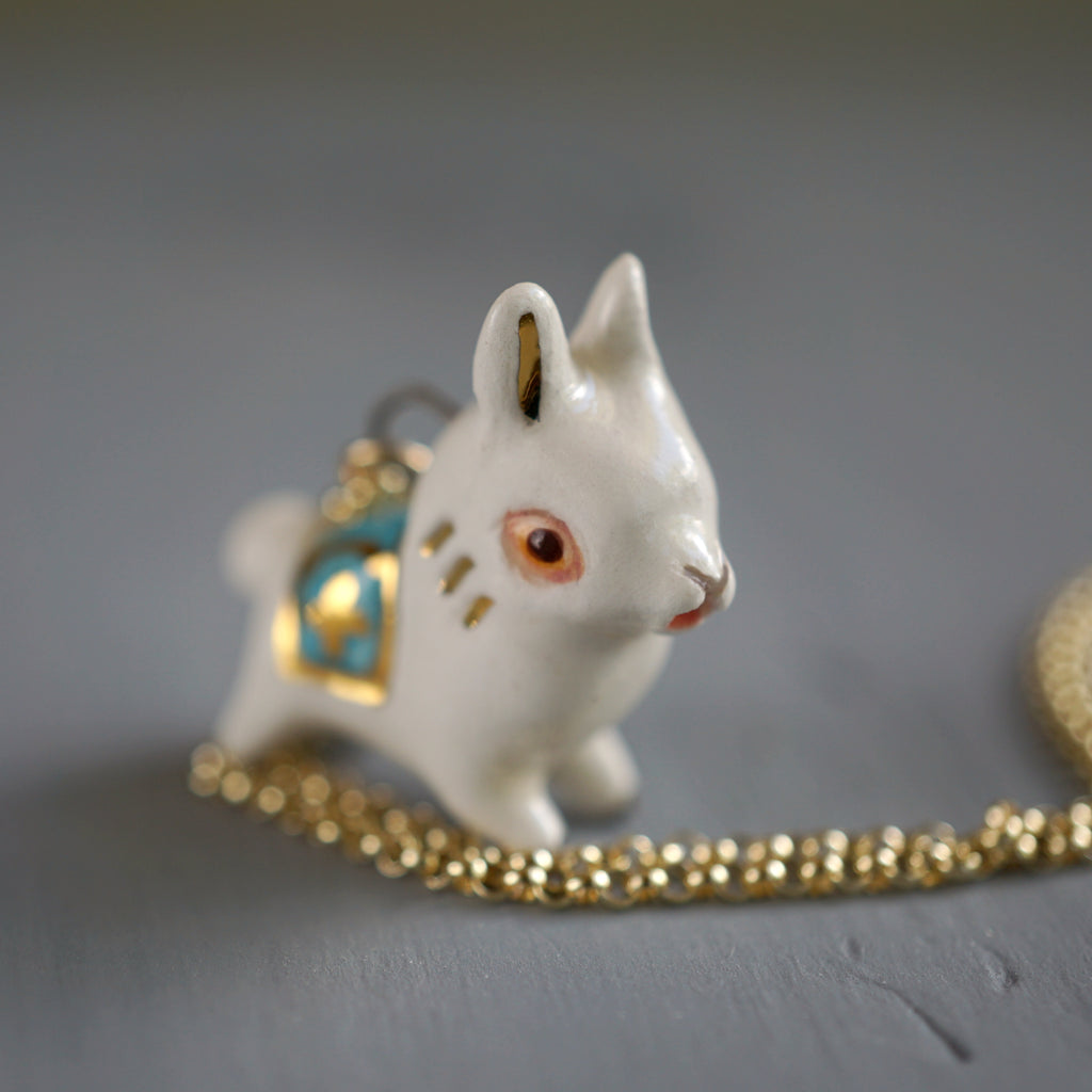 White Alpaca Necklace