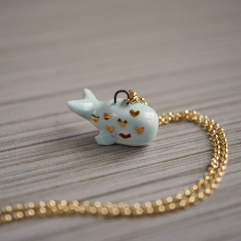 Little Heart Whale Necklace