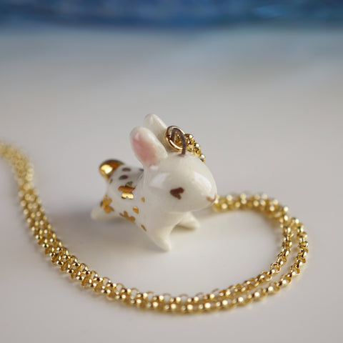 Starry goldentail bunny Necklace