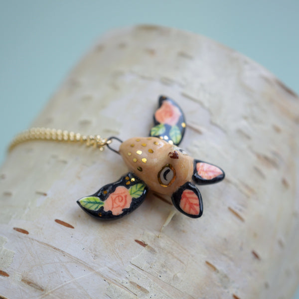 Floral Bat Necklace