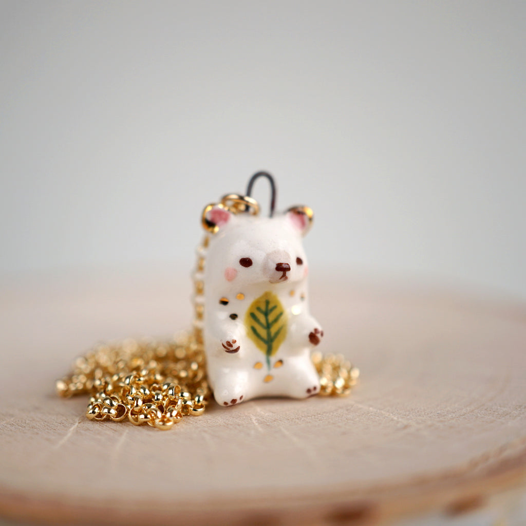 Leaf Bear Necklace