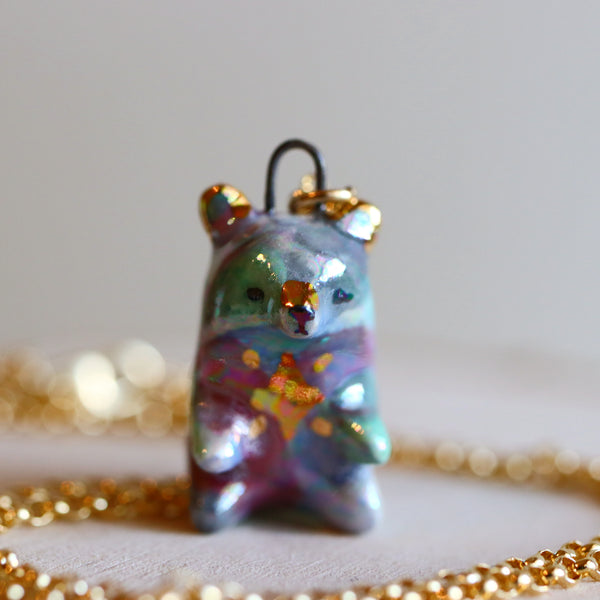 Aura Star Bear Necklace