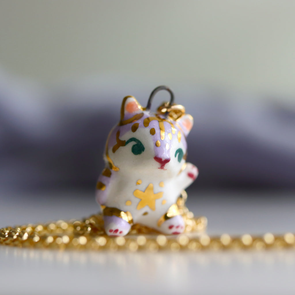 Lilac Star Tiger Necklace