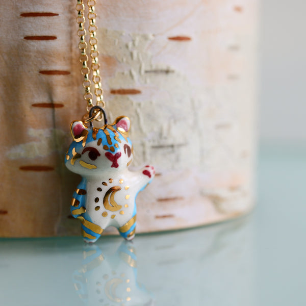 Blue Moon Tiger Necklace