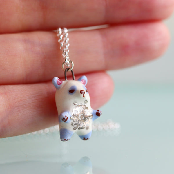 Snowflake Panda Necklace
