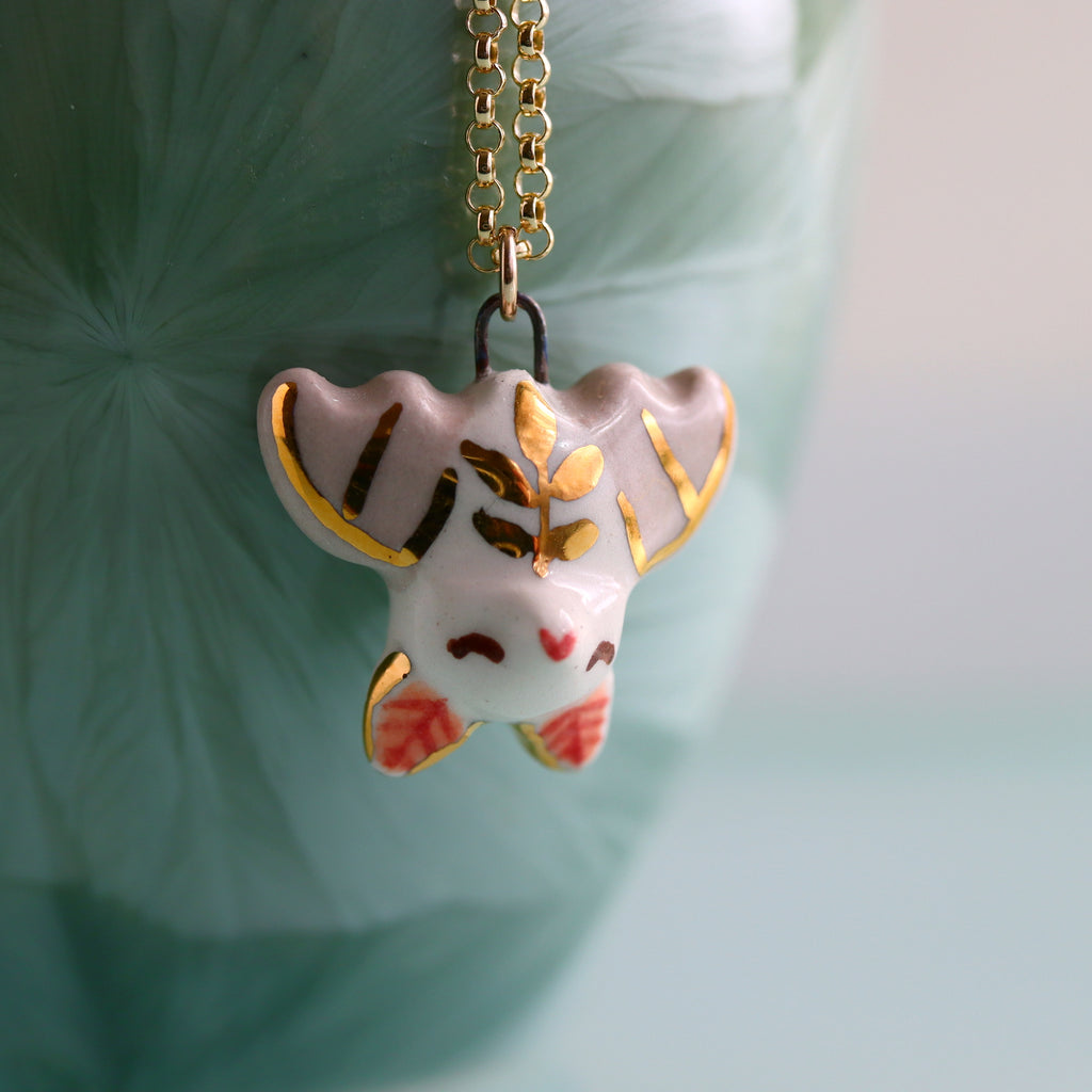 Fern Bat Necklace