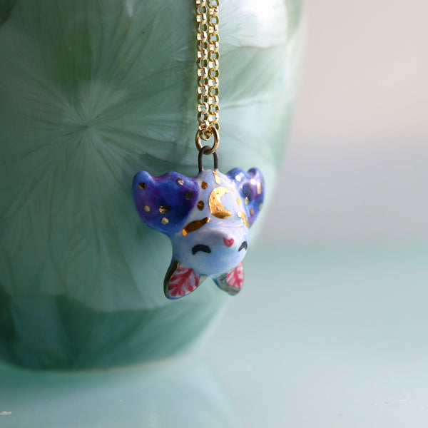 Moon Bat Necklace