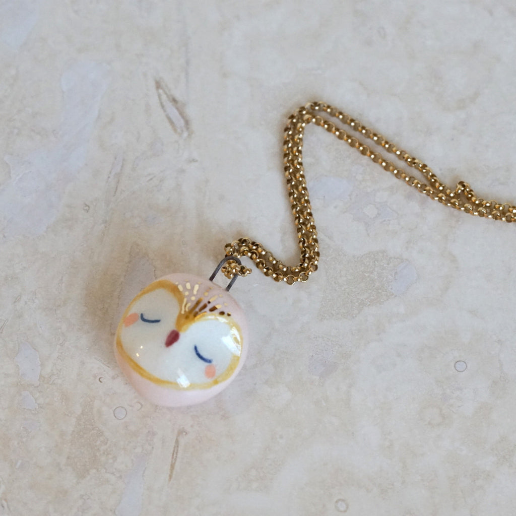 Barn Owl Head necklace