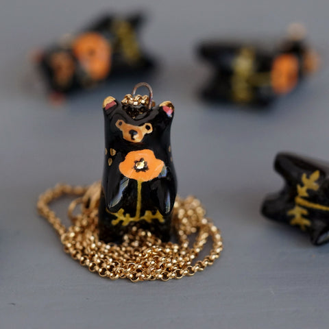 Poppy Bear Necklace