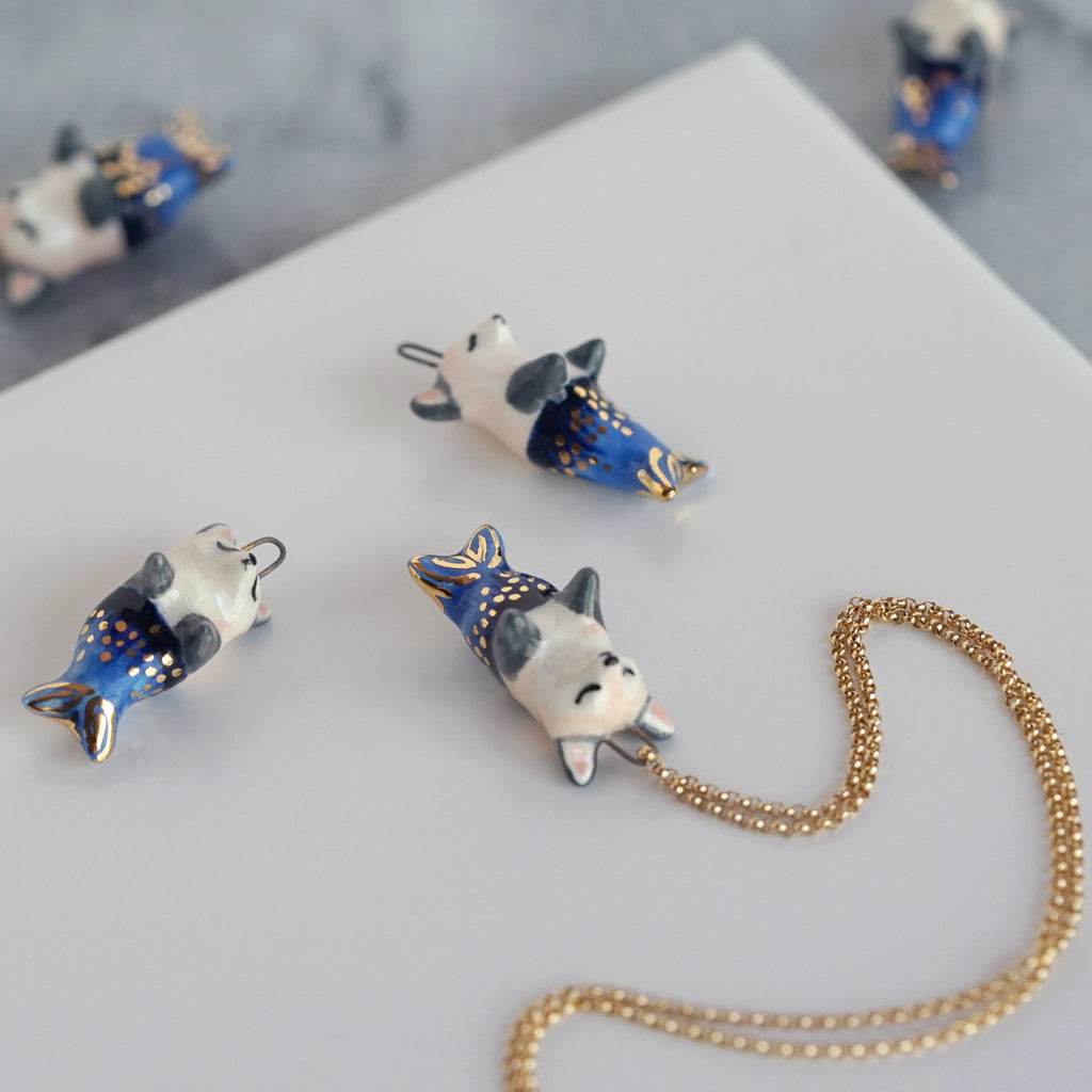 Blue Mer-fox Necklace