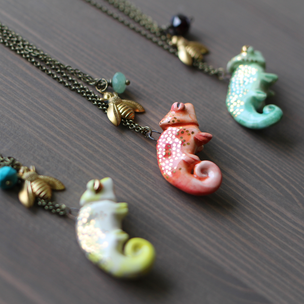 Chameleon Necklace Set