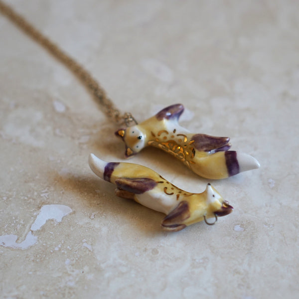 Jumping Fox necklace