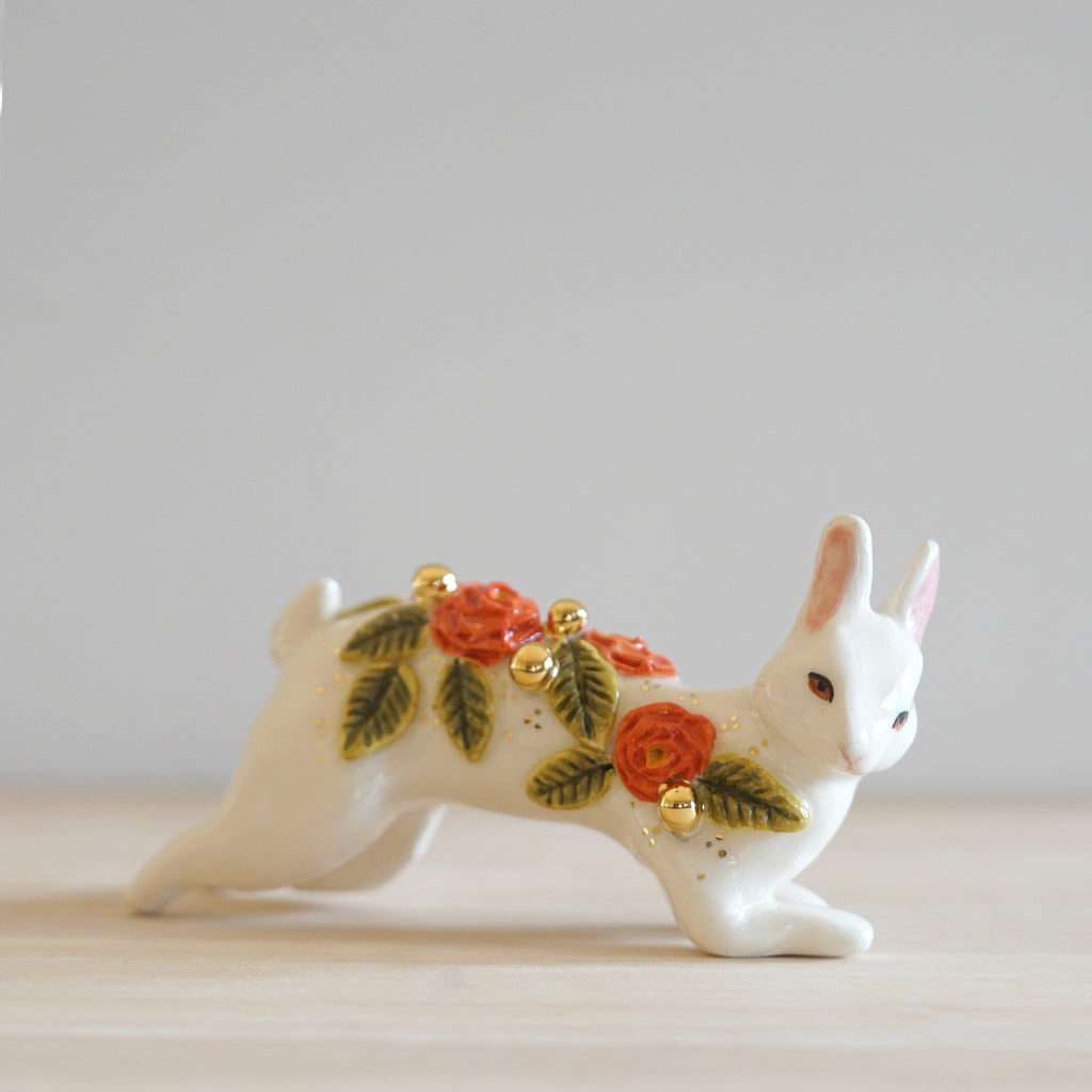 Floral White Rabbit