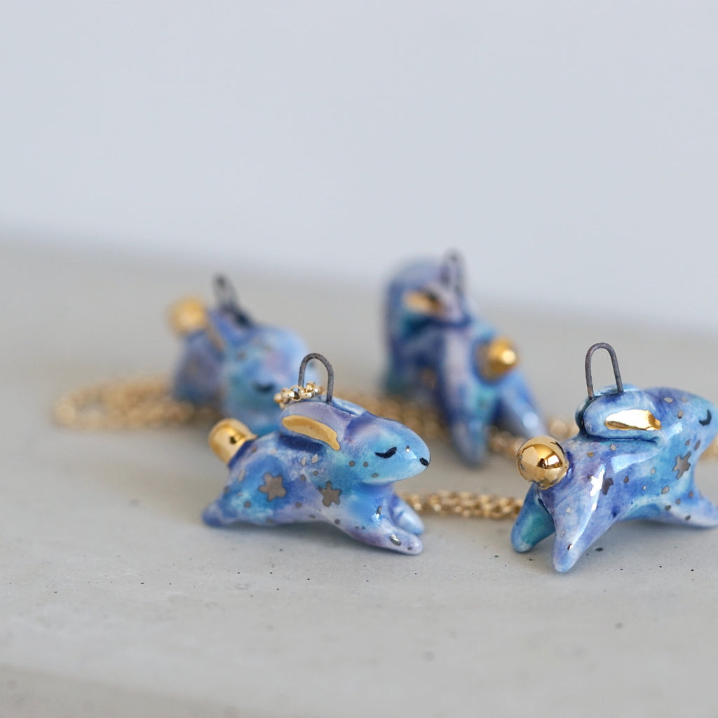 Galaxy Bunny Necklace