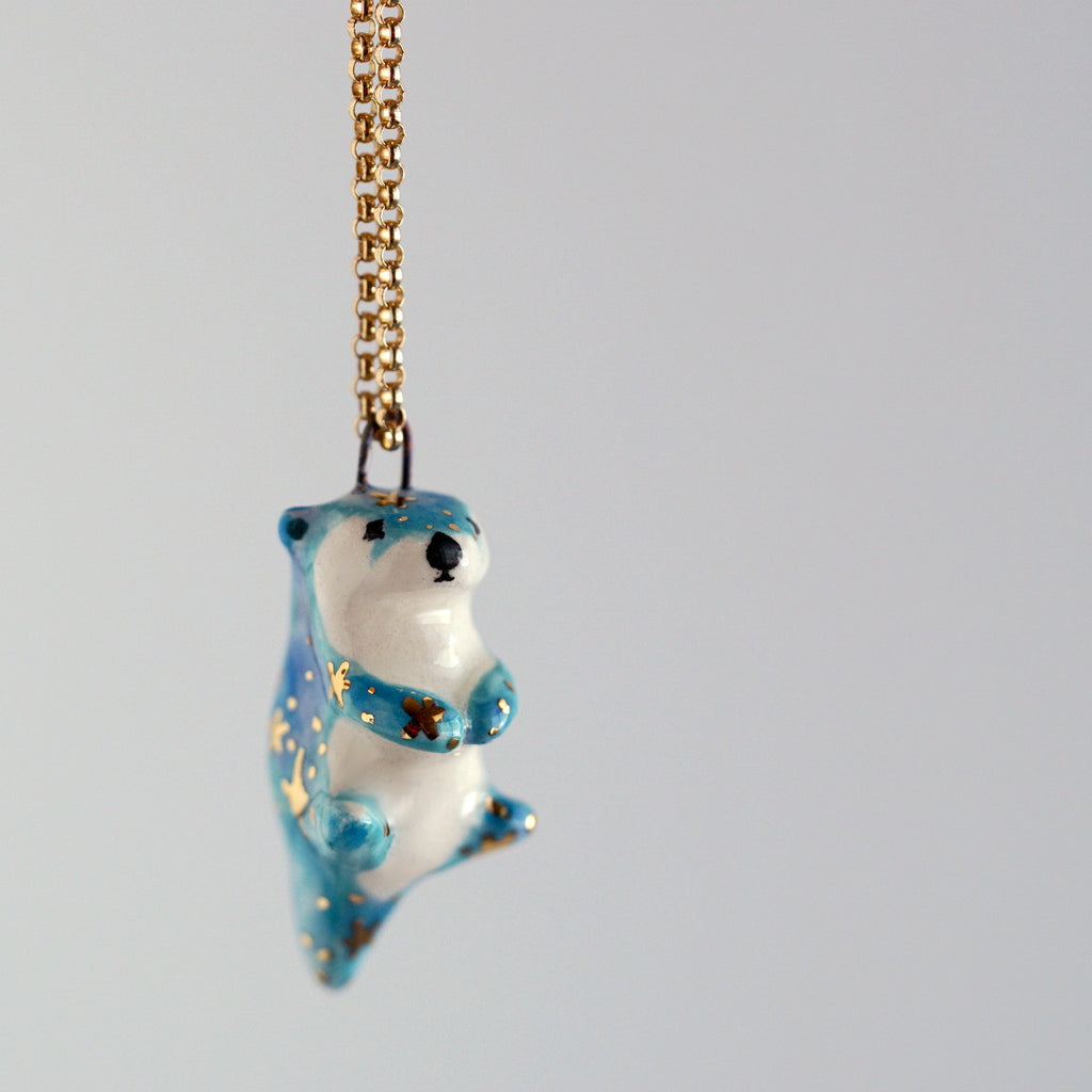 Galaxy otter necklace